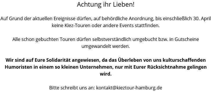 Kieztour Hamburg Hinweis